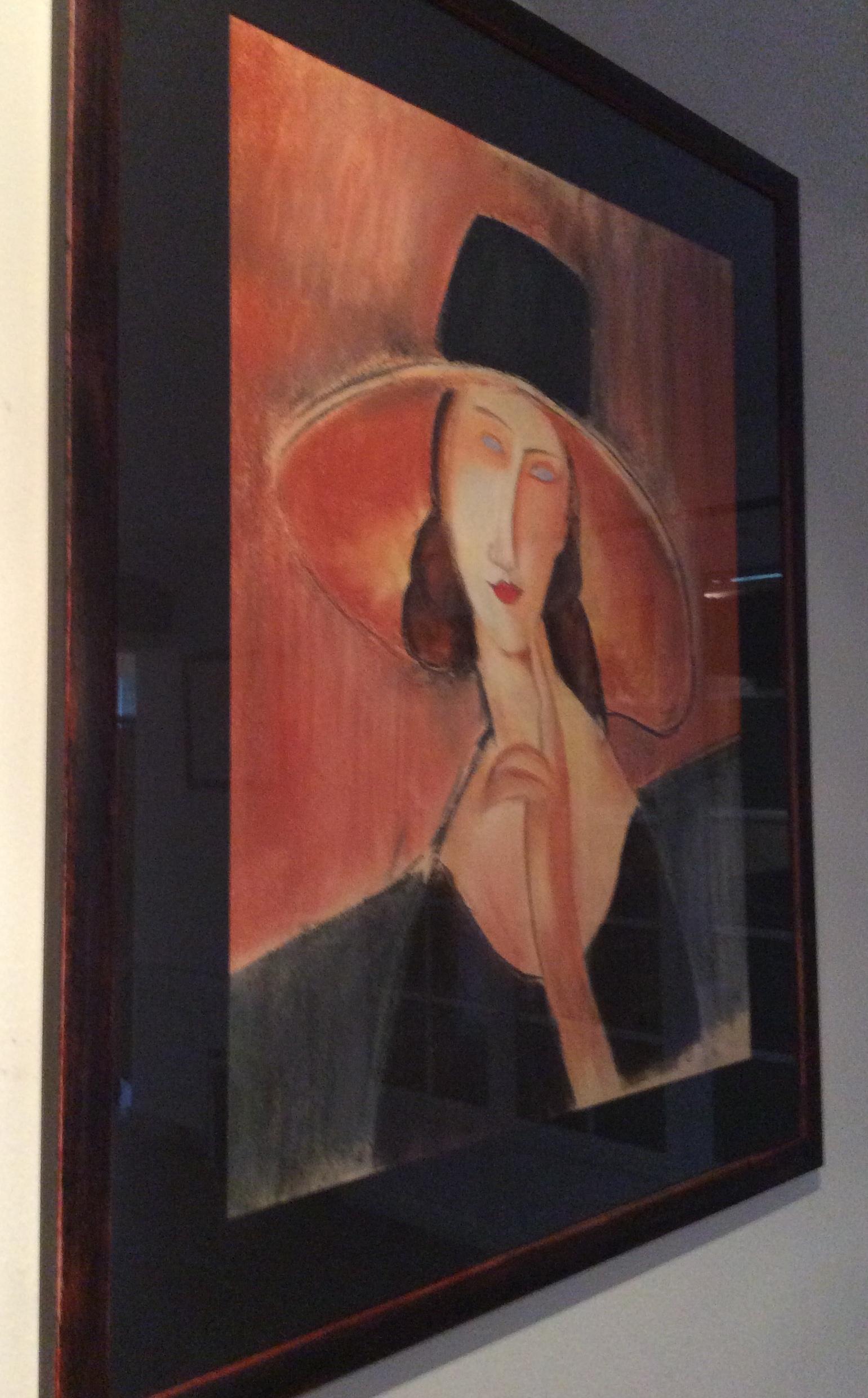 Copie -Femme au chapeau - MODIGLIANI-430€ encadré