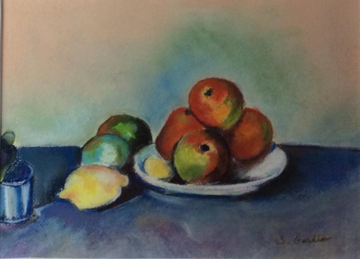 Copie -Pommes - CEZANNE - 290€ encadré verre invisible