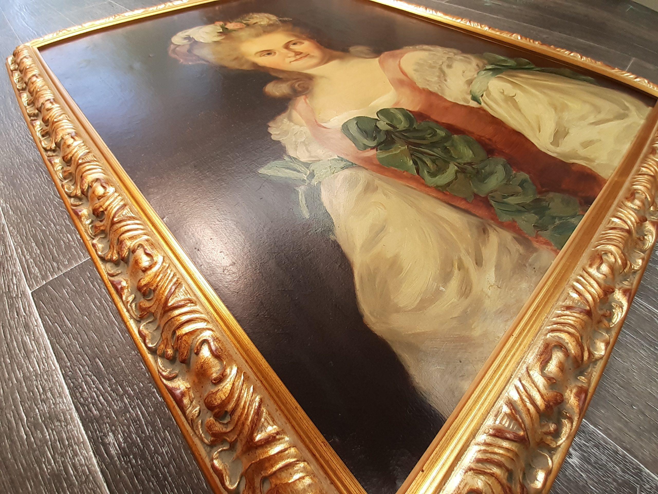 baguette baroque dorée